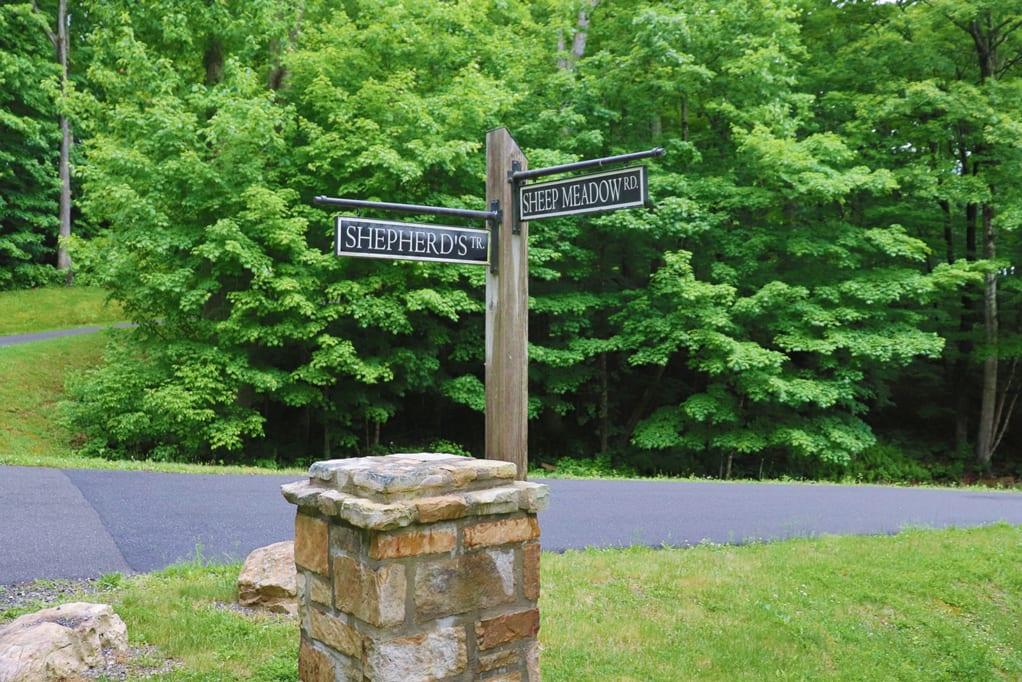 Signpost In Sheep Meadow Neighborhood